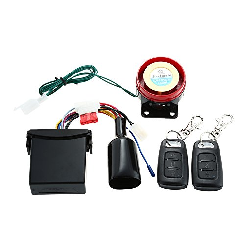 Steelmate 886E - Sistema de Alarma 1 Via Impermeable ECU Inmovilización de Motor para Motocicleta con 2 Transmisor de Moda