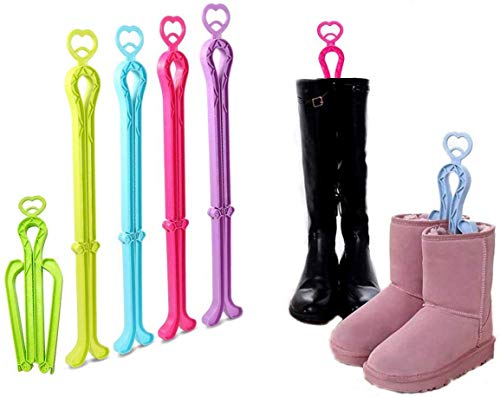 CGBOOM Folding Boot Shaper Stands Boots Knee High Shoes Clip Support Stand -5Pack