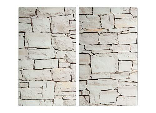 Herdabdeckplatten - Beige - 30 x 52 cm - 2 teilig
