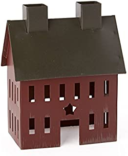 Factory Direct Craft Painted Tin Colonial Saltbox House for Home Decor and Displaying