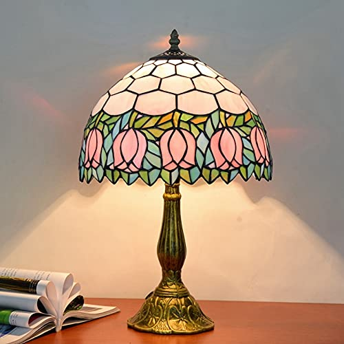 YINGGEXU Lámpara de Mesa Lámpara de Mesa turca vitral con libélulas Lámpara de Escritorio Vintage Dormitorio Restaurante Mediterráneo Hogar Deco Iluminación Decoración (Body Color : D)