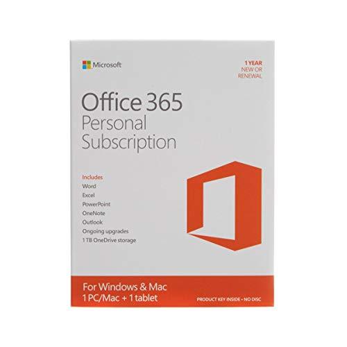 Microsoft Office 365 Personal - Suites de programas (1 usuario(s), 1 Año(s), ENG, 3000 MB, 1024 MB, 1000 MHz)