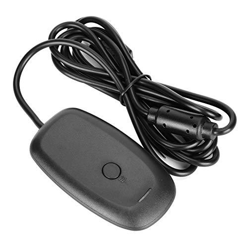 Pusokei Controlador de Juegos inalámbrico para Xbox, sin vibración Receptor de PC Controlador de Juegos Adaptador inalámbrico Consola con Receptor USB para Microsoft Xbox 360