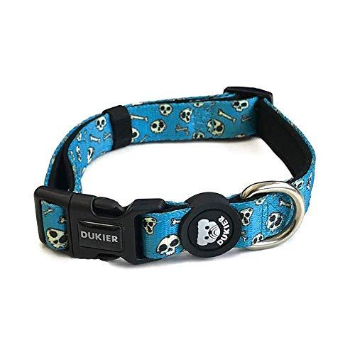 Dukier - Bedrucktes Hundehalsband (Skulls, M)