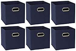 commercial Household Goods 81-1 Foldable Fabric Storage Box | Set of 6 Dice with Handle | Marine… ikea fabric bins