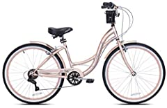 Over-sized step-through steel frame 7-speed drive-train Twist shifters Front and rear linear pull handbrakes Fenders included