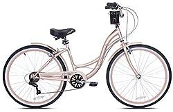 """top 10 kent trouble bike Kent 26 """"Bayside Ladies Cruise Bike, Rose Gold"""""""