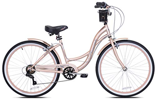 "Kent 26"" Bayside Women's Cruiser Bike, Rose Gold"