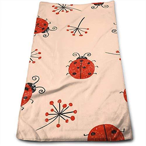 Red Ladybird Toalla Ultra Suave Toallas de baño de Gran tamaño Toallas de Mano Toallas de Lavado Ideal para Uso Diario, Toalla Deportiva de Yoga para hoteles y spas