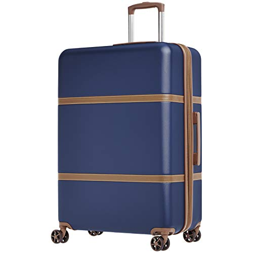 AmazonBasics Vienna Expandable Luggage Spinner Suitcase - 30.7 Inch, Blue