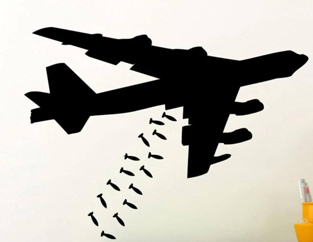 Wall Classic Stickers Mural Bomber Plane Wallpaper Jet Removabl Phoenix Mall Airplane