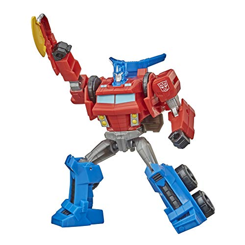 Transformers Bumblebee Cyberverse Adventures Warrior Class Optimus Prime Figura de acción Juguete, Movimiento de Ataque repetible, Edades de 6 y más, 5.4 Pulgadas