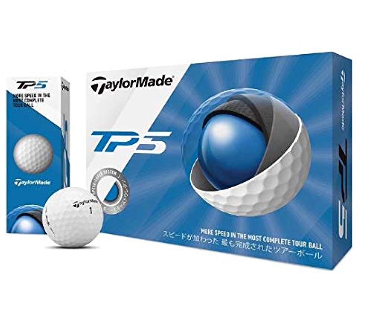 ビデオベックス一流テーラーメイド(TAYLOR MADE) ゴルフボール TP5 TP5 12P M7152801 メンズ M7152801 ホワイト