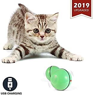 YOFUN Upgraded Smart Ball for Cat,2019 Newest Interactive Cat Toy Ball for Indoor Kitty,USB Rechargeable,Automatic Rolling with Obstacle Avoidance System