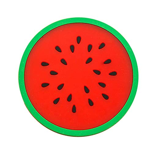Z-LIANG Creative Fashion Fruit Coaster Colorido Silicona Taza Bebidas Titular Mat Fruit Formas Coaster Vajilla Placemat Coffee Pads 8.8cm Decoración (Color : 04)