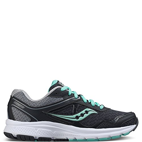 Saucony Women's Cohesion 10 Running Shoe, Grey/Mint, 7 M US