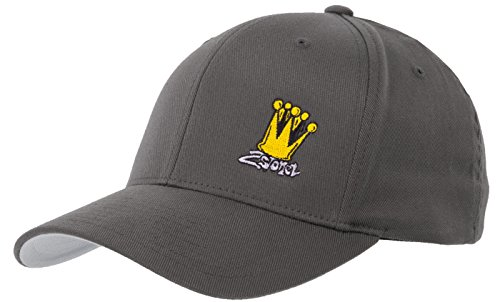 2Stoned Flexfit Basecap in Dark Grey mit Stick Crown Größe XXL (62cm - 65cm), Cap für Herren