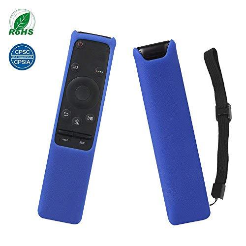 Carcasa de TV Mando a Distancia BN59-01259B SIKAI Funda de Protección de Silicona a Prueba de Golpe para Samsung Smart 4K LED TV Remote Control Protectora con mano Strap (Azul)