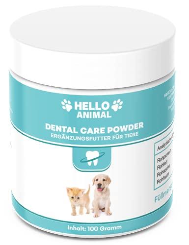 Hello Animal DENTAL Pulver für Hunde und Katzen – Zahnreinigung und Zahnpflege Zahnsteinentferner auch für Zwischenräume – Zahnpulver gegen Mundgeruch
