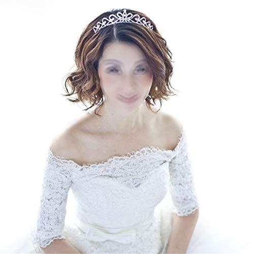 SUIWO Princess Crown Gems Rhinestone Tiara Kid Girl Prom Birthday Prinecess Party Bridal Headband Wedding Jewelry Headwear Micro-inlaid Zircon Crown Wedding Accessories Girlfriends Gift