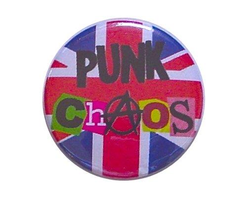 UK Chaos パンク ロゴ 缶バッジ London ストリート マーケットからc154[イギリス直輸入]