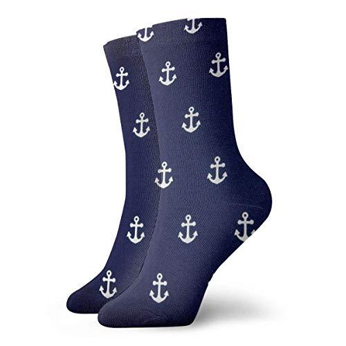 Kevin-Shop Calcetines para Hombres y Mujeres- Anclas náuticas Calcetines Coloridos Divertidos y Coloridos