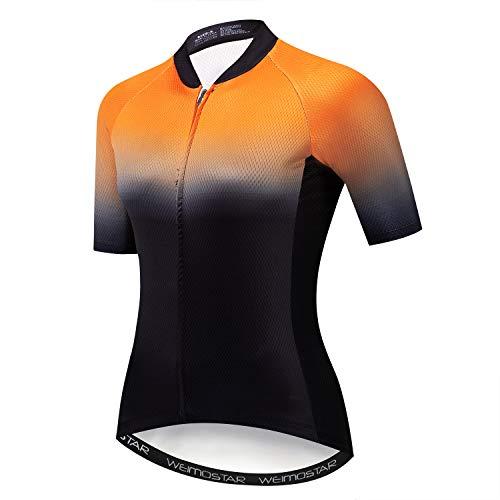 Mountainbike-Trikot für Damen, Fahrradtrikot für Damen, bequem, schnell trocknend - - Groß