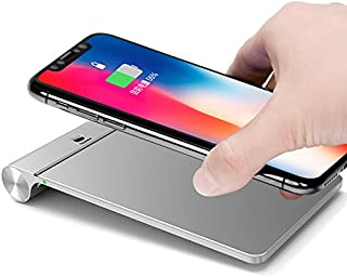 Aluminum Wireless Charger Pad,iPhone X Wireless Charger,7.5W Fast Qi Wireless Charging Stand Qi-Certified Wireless Charger for iPhone X,iPhone 8/8 Plus,10W Fast Charge for Samsung S9/S9+/S8/S8+/S7