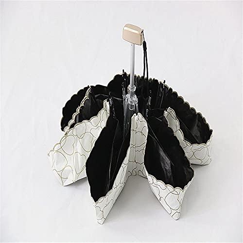 YiChuangMaoYi Paraguas de sombrillas de sombrillas Laterales Bordadas 50% de Descuento sobre protección Solar y protección UV Pollo Plegable de Vinilo (Color : A)