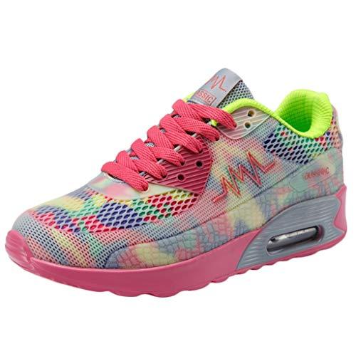 SUNNSEAN Women Sport Shoes, Damen Laufschuhe Schwarz grün 48