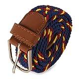 N/A. Cinturón para hombre Azul Marino y bandera de España. Cinturón elástico