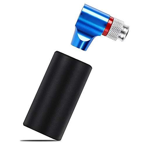 MUMUWUEUR Adaptador Presta Schrader CO2 Bomba Bomba for inflar Bicicletas de Aluminio Tubo de neumático Mini Bomba de Mano Cartucho de CO2 NO (Color : Azul)