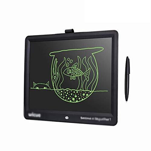 BXGZXYQ 15-Zoll-hochhellen dicken Handschrift Tablet LCD Smart Writing Board Konferenz Büro Kinder Tafel Grafik Tablet Zeichnen mit Licht Spielzeug zu unterrichten (Farbe : Schwarz)
