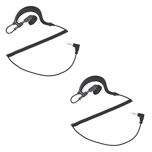 HYS G Formen Ohrhörer 2,5 mm Ohrhörer Kopfhörer Reiner Headset Für Kenwood HYT Motorola 2.5MM Funkgeräte Lautsprechermikrofon Handmikrofon (2 STK.)