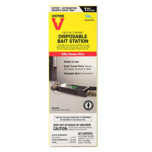 Lowest Prices! Victor M913 Fast-Kill Brand Ready-to-Use Disposable Mouse Bait Station – 1 Pack
