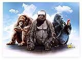 AJleil Puzzle 1000 Pezzi Gorilla Divertente Astratta di Arte Puzzle 1000 Pezzi paesaggi Great Holiday Leisure , Giochi interattivi per Famiglie Puzzle educativi intellettuali decomp50x75cm(20x30inch)