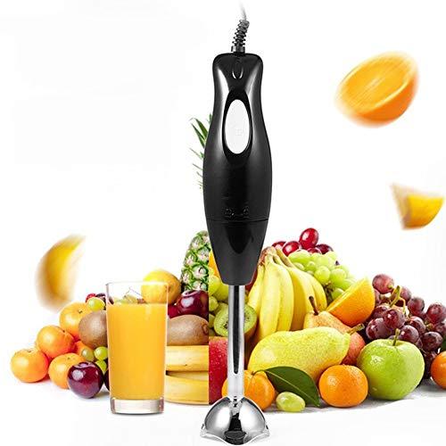 HUILING Stabmixer, Mixgerät Immersion Stick Blender Mixer Rührstab Kochmaschine Für Smoothies, Suppen, Saucen, Kinderfutter (Color : Black)