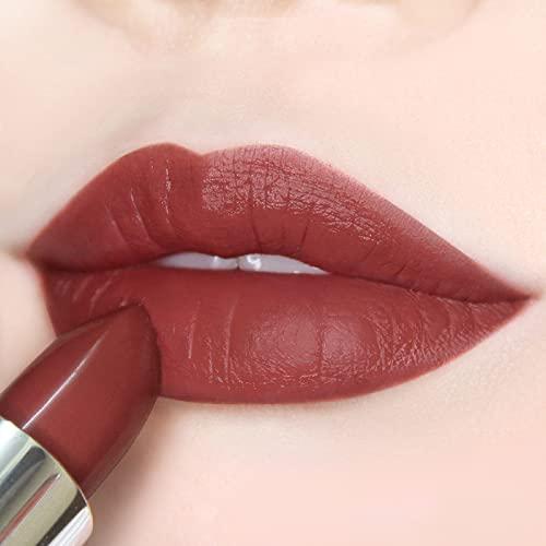 Semi Matte Vegan Lipstick with Creamy Satin Finish, Dramatic, Sunset Strawberry Hue Lip Color -CRUSH ON YOU (303-I Still Believe) by Ready to Shine