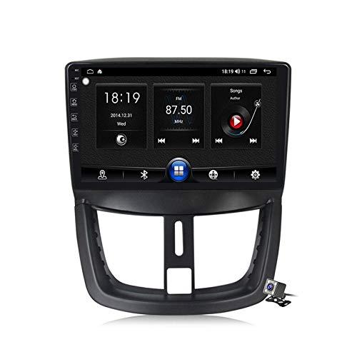 W-bgzsj Android 10.0 Coche Estéreo, Radio para Peugeot 207 2006-2015 GPS Navigación GPS Unidad de Cabeza de 9 Pulgadas Reproductor Multimedia MP5 Receptor de Video con 4G / 5G WiFi DSP RDS FM Carplay