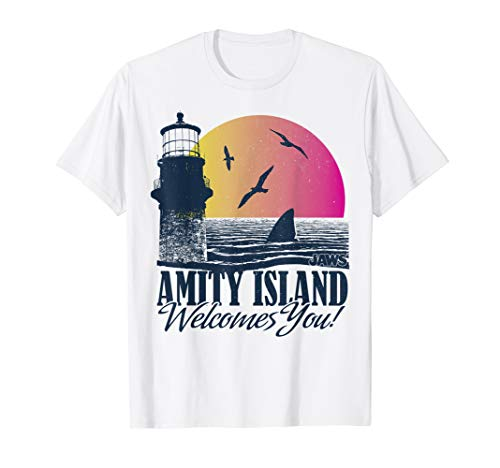 Adults Amity Island Welcomes You Sunset T-shirt for Men or Women