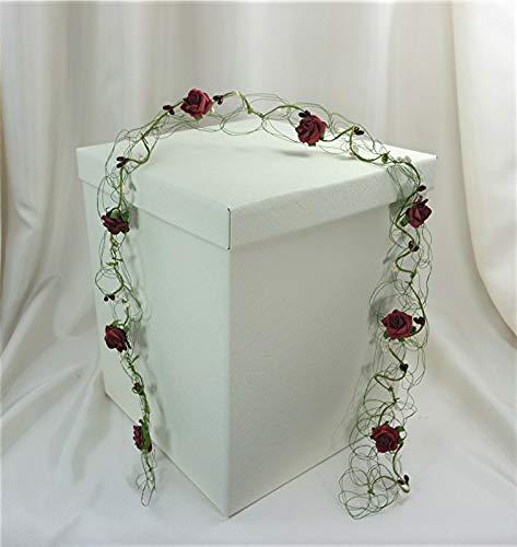 wertheim-deko Geldbox Kartenbox Geschenkschachtel Creme Hochzeit 25 x 25 x 30 cm