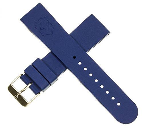 Genuine Victorinox Swiss Army Maverick Dive Blue Rubber Strap Diver Watch Band 22mm