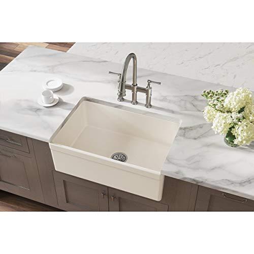 Elkay SWUF28179BI Fireclay Single Bowl Farmhouse Sink, Biscuit