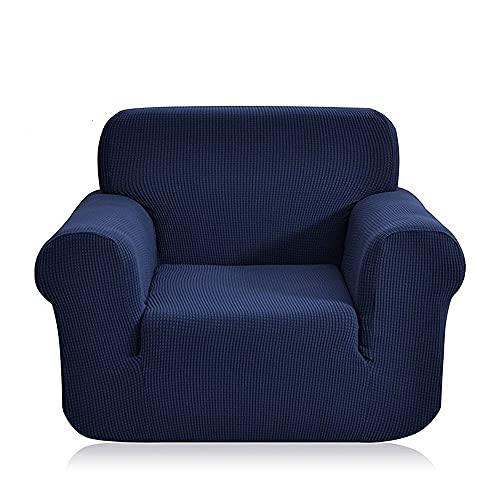 FENFANGAN Fundas para Sofa de Forro Polar para Sala de Estar,Fundas de sillones, Fundas Sofa elasticas Universal,Adecuada para la mayoría de los sofás,Fácil de cuidar (Navy Blue,3seater 180-225cm)
