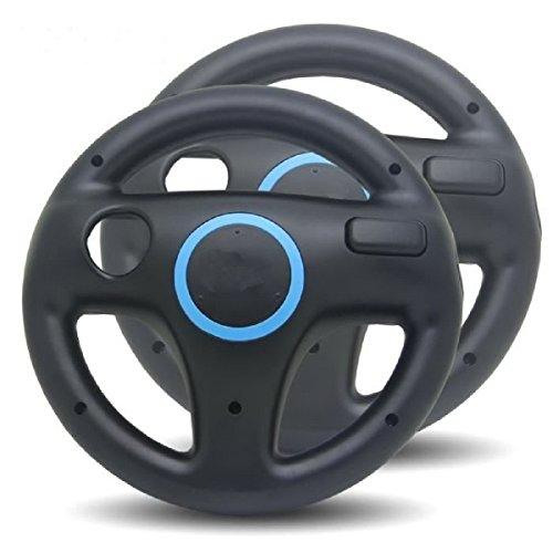 2 x Volante / Racing Wheel De Dirección Para Nintendo Wii Consola (Mario Kart, Juego De Carreras...)