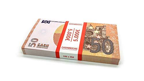 Cashbricks 100 x €50 Euro Spielgeld Scheine Bündel