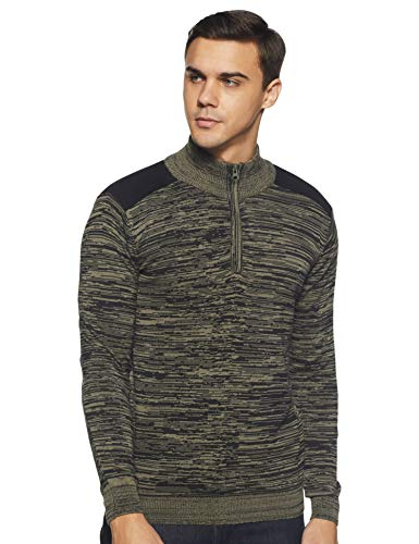 Pepe Jeans Men's Cotton Sweater (PM507070_Olive_XL)