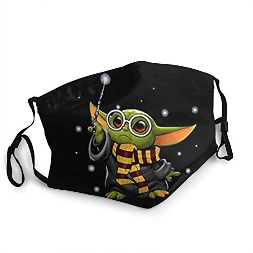 Face mask reusable Made in USA Funny Print Pattern Breathable Mouth Masks Anime Dust Face Mask Washable And Reusable Windproof Cartoon Masks Baby-yoda