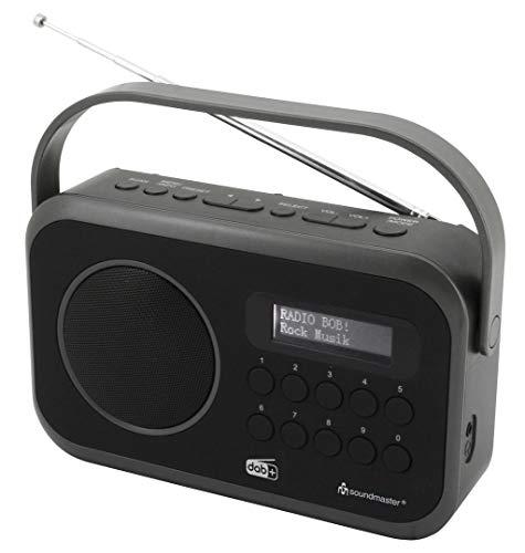 Soundmaster DAB270SW tragbares DAB+ und UKW-RDS Digitalradio mit Kopfhörerbuchse