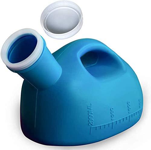Urinflasche für Männer, Urinal für Herren Spritzfest Mit Deckel urinale für Krankenhaus, Outdoor, Auto, Camping -2000ml